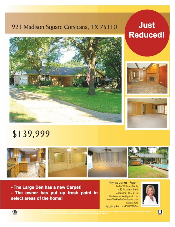 921 Madison Sq Corsicana, TX Just Reduced!