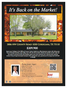 Look It's Back on the Market! 3006 NW CR 1030 CORSICANA, TX 75110