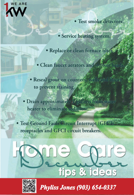 December Home Care Tips