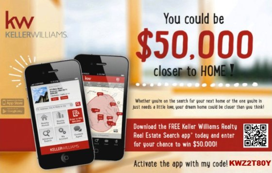 Get a Chance to Win $50,000 by Downloading Keller Williams Free Mobile App