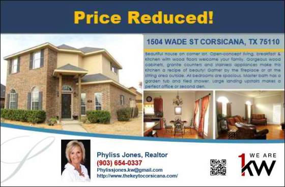 Price Reduced on 1504 Wade Street!
