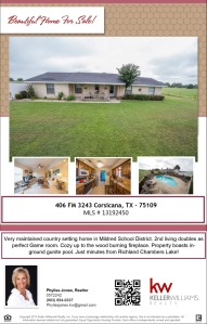 Call me for more info Phyliss Jones (903) 654-0337