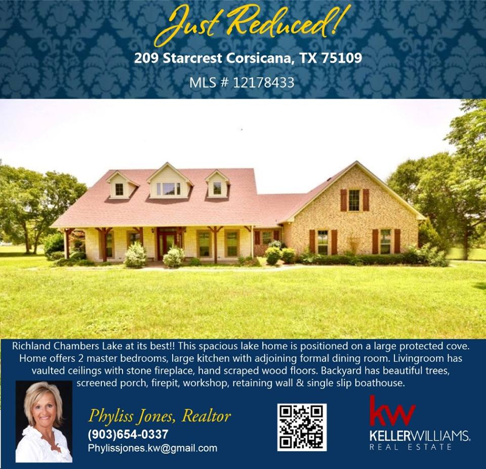 Reduced Price Beautiful  Home in Corsicana