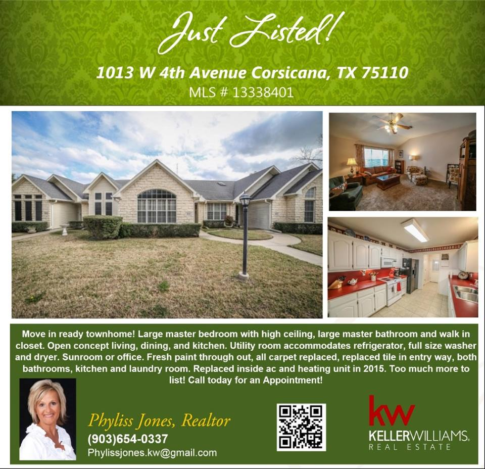 Beautiful New Listing in Corsicana!