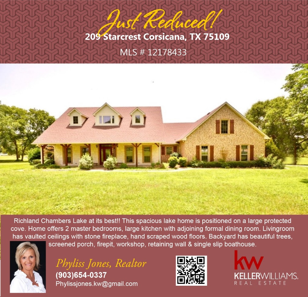 JUST REDUCED! 209 Starcrest Corsicana,TX 75109
