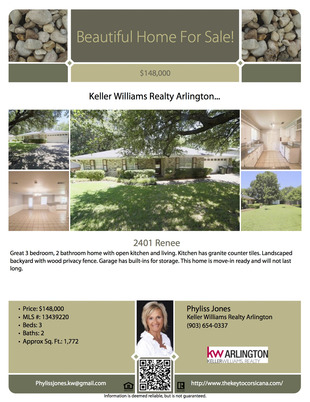 Great Move-in Ready Home in Corsciana,TX