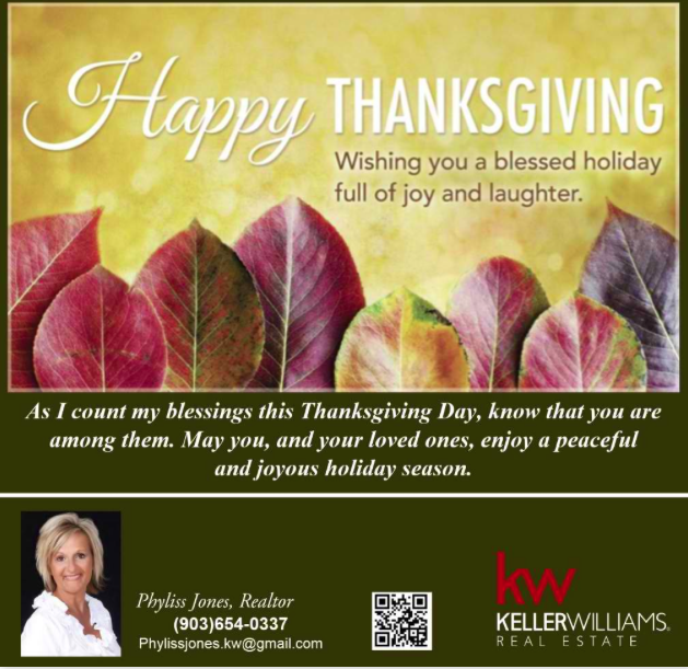 Happy Thanksgiving Everyone! – Phyliss Jones
