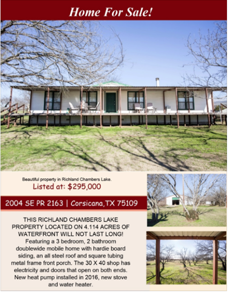 This Beautiful Home in Richland Chambers Lake is waiting for you! Please call me for more info. Phyliss Jones, Realtor (903) 654-0337. #KW #Corsicanahomeforsale #Kellerwillamsarlington #Realestate #Lakehome #Richlandchamberslake