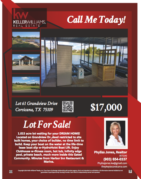 Wonderful Lot in Richland Chambers Lake For Sale! Please call me for more info. Phyliss Jones, Realtor (903) 654-0337 #Corsicanalotforsale #KW #Kellerwilliamsarlington #Bestdeal #Realestate #Richlandchamberslakelot