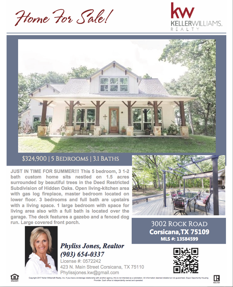 Your Family Deserves the Best! Come and check out this Beautiful Home now! Please call me for more info. Phyliss Jones, Realtor (903) 654-0337 #Corsicanahomeforsale #KW #Kellerwilliamsarlington #Bestlocation #Homeforsale #Bestdeal #Beautifulhome #Mustown #Musthave