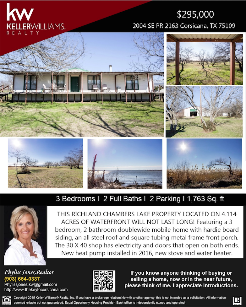 This Beautiful home is waiting for you! Please call me for more details. Phyliss Jones, Realtor (903) 654-0337. #Corsicanahomeforsale #bestdeal #Realestate #KW #Kellerwilliamsarlington #Homeforsale