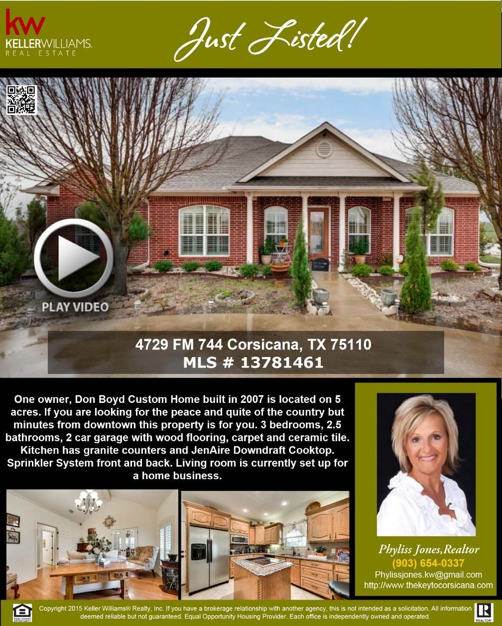 JUST LISTED! :) Please call me to schedule a showing and for more info. Phyliss Jones, Realtor (903) 654-0337.  #Newlisting #Corsicanahomeforsale #KW #Kellerwilliamsarlington #Bestdeal #Greatlocation #Realestate #Homeforsale